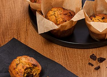 Chocolate chip and pumpkin muffin